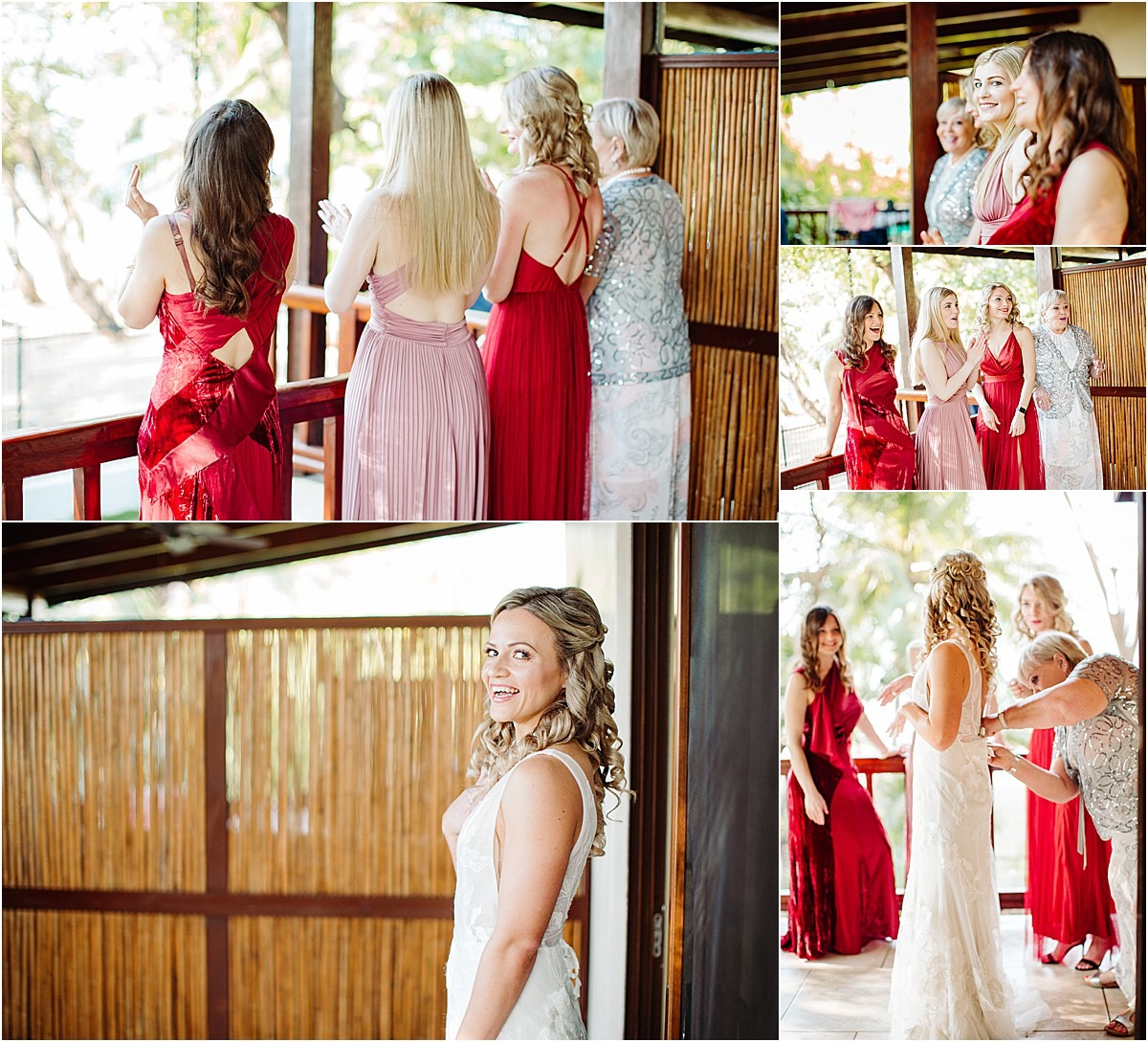 bridesmaids in red stunning beautiful