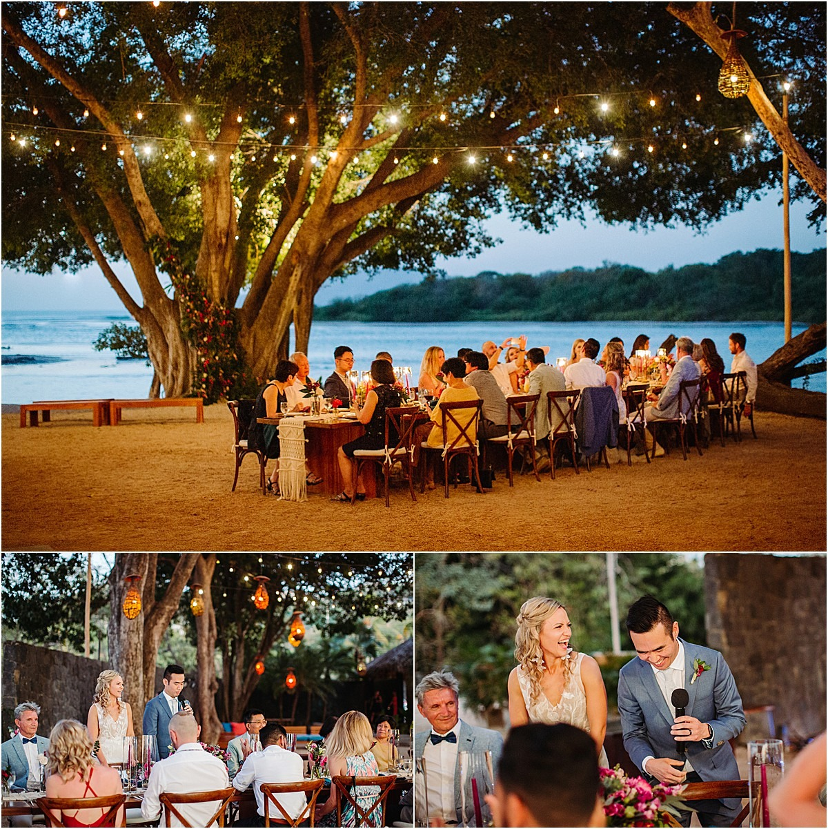 ceremony on the beach of Tamarindo CR