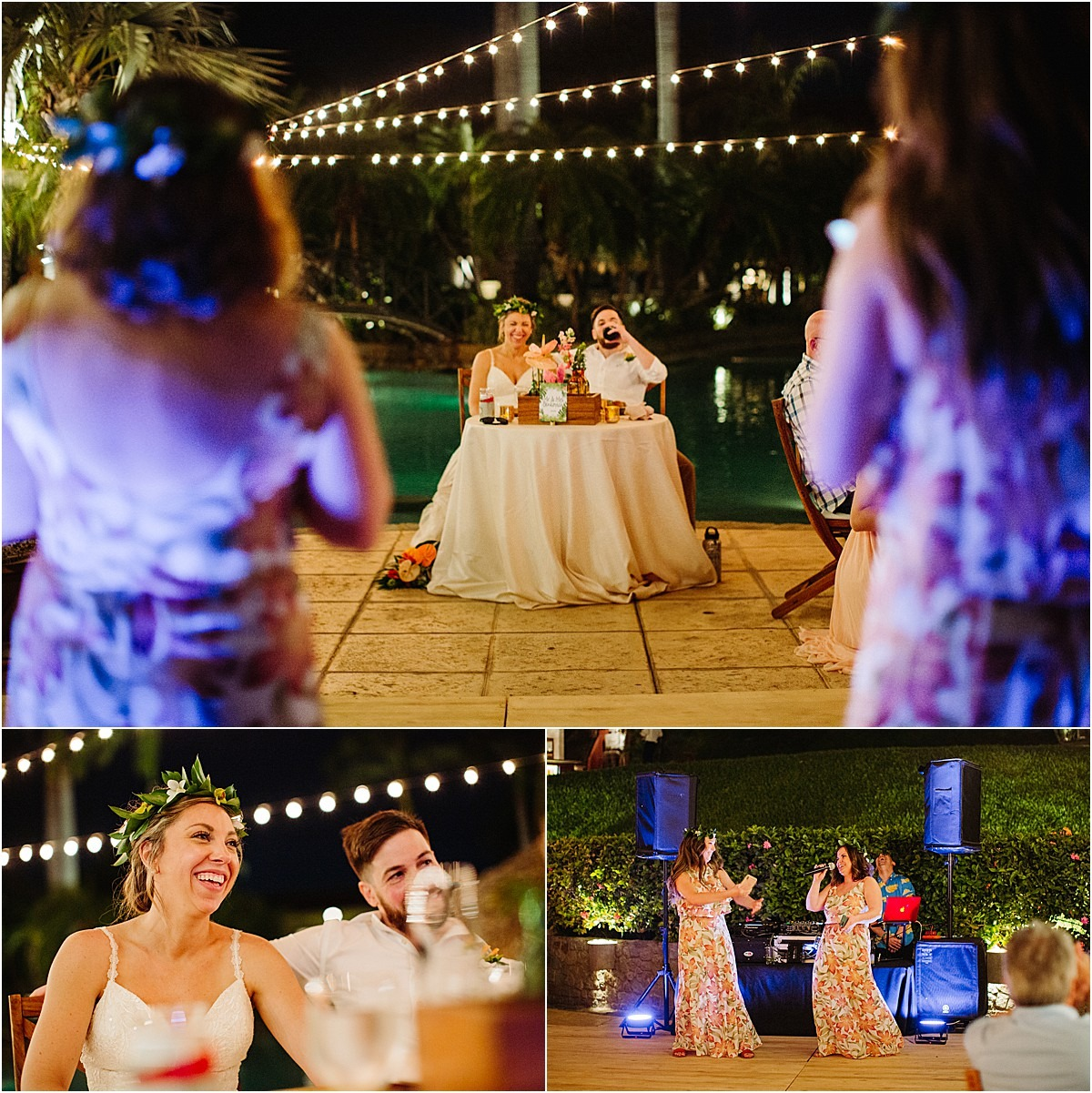 speeches at the destination wedding recepetion
