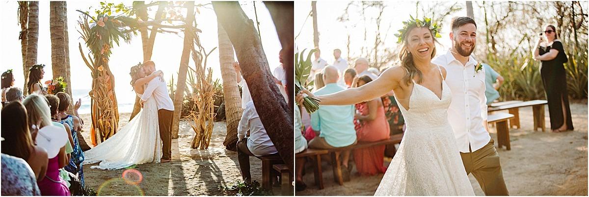 wedding ceremony at casa los olivios