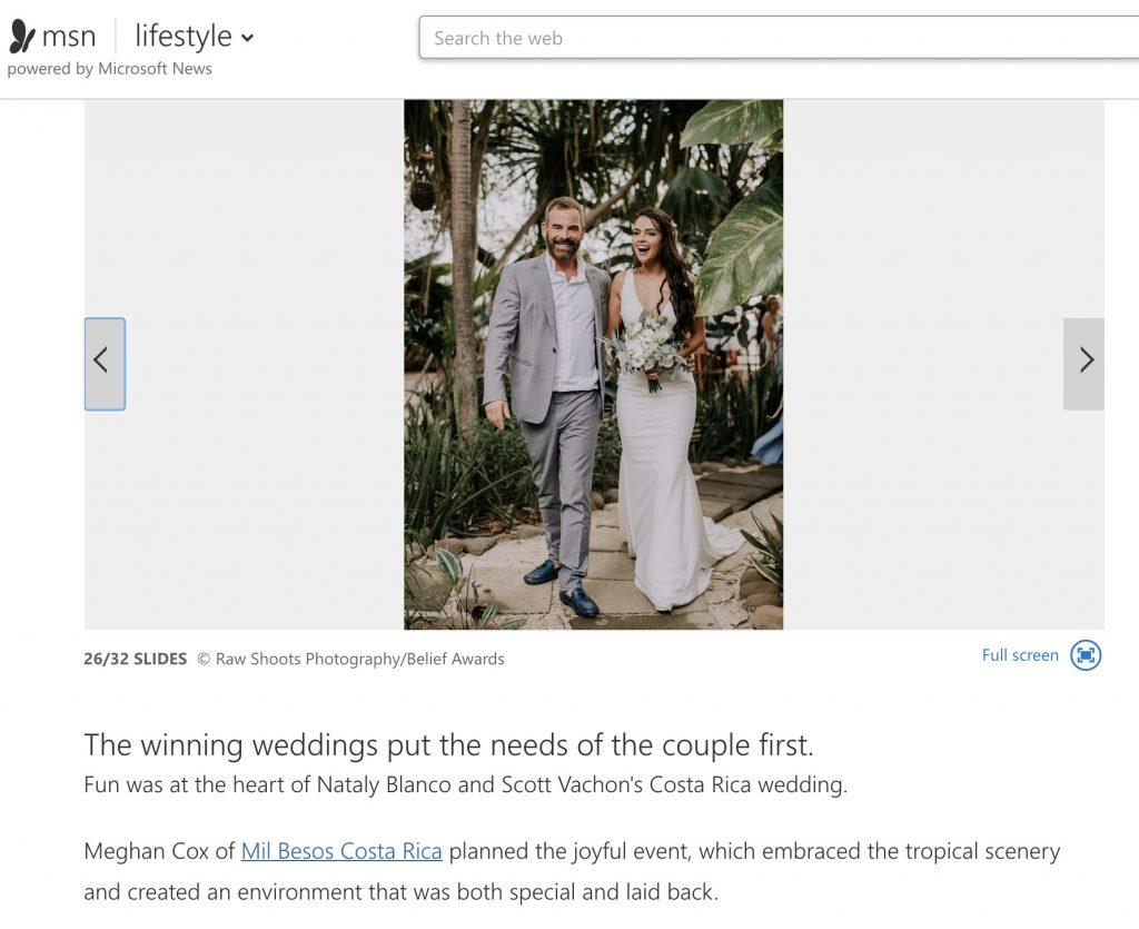 Featured on MSN Lifestyle weddings