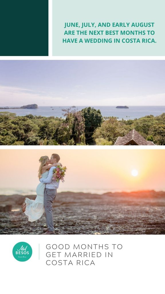 Good months for your costa rica wedding
