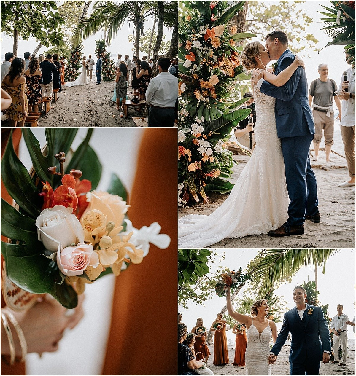 ceremony and bouquet red