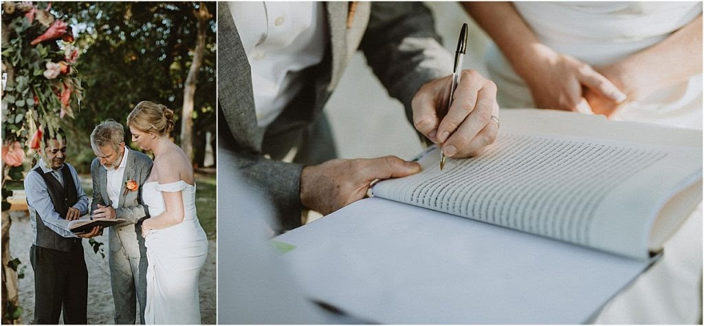 Signing Legal Marriage Documents