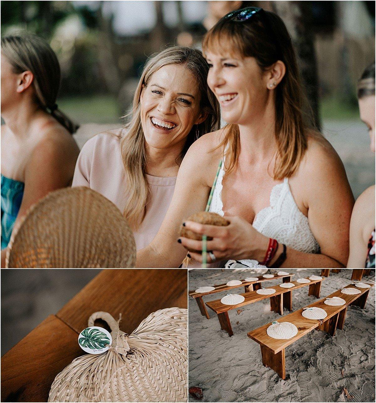 wedding ceremony fan ideas in costa rica sun