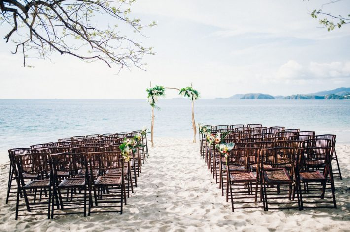 Barefoot Wedding in Conchal Beach Costa Rica