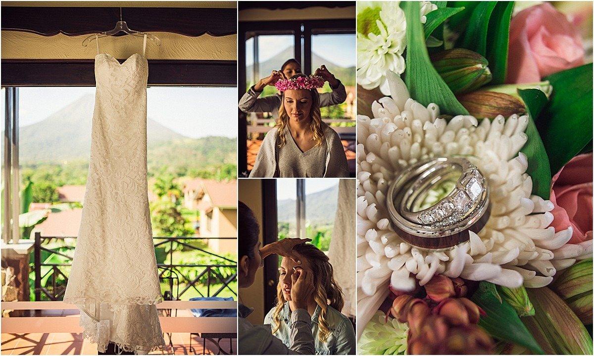 Wedding dress arenal hotel rings