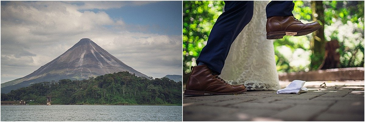 adventure wedding volcano smash the glass
