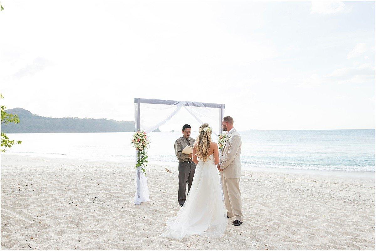 beach elopement ceremony in CR