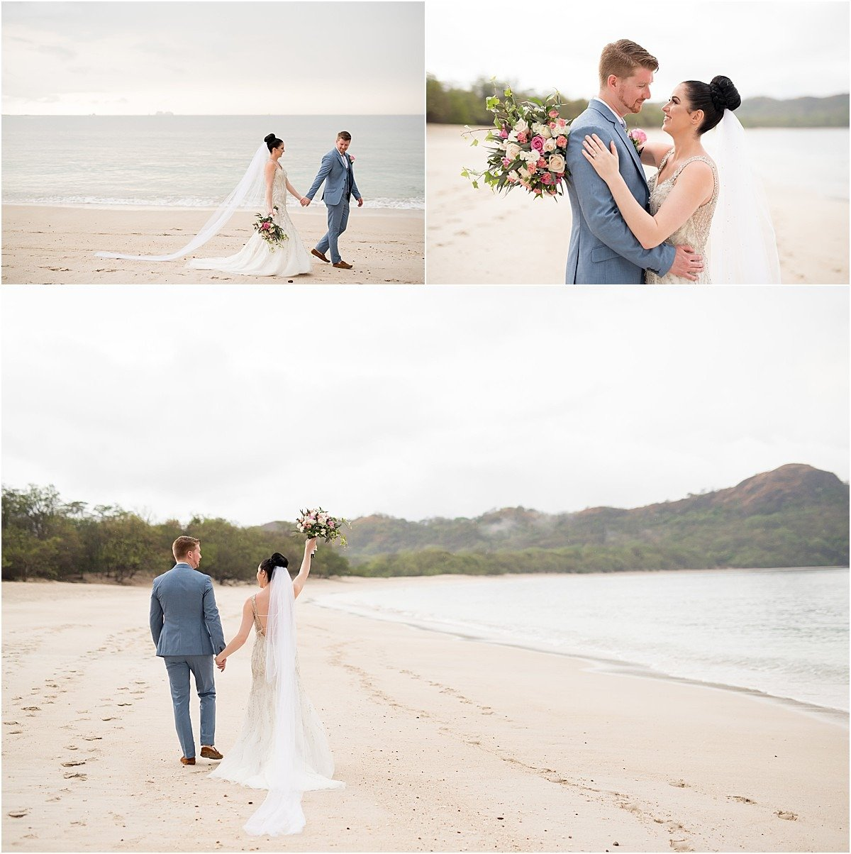 beach playa conchal elopement