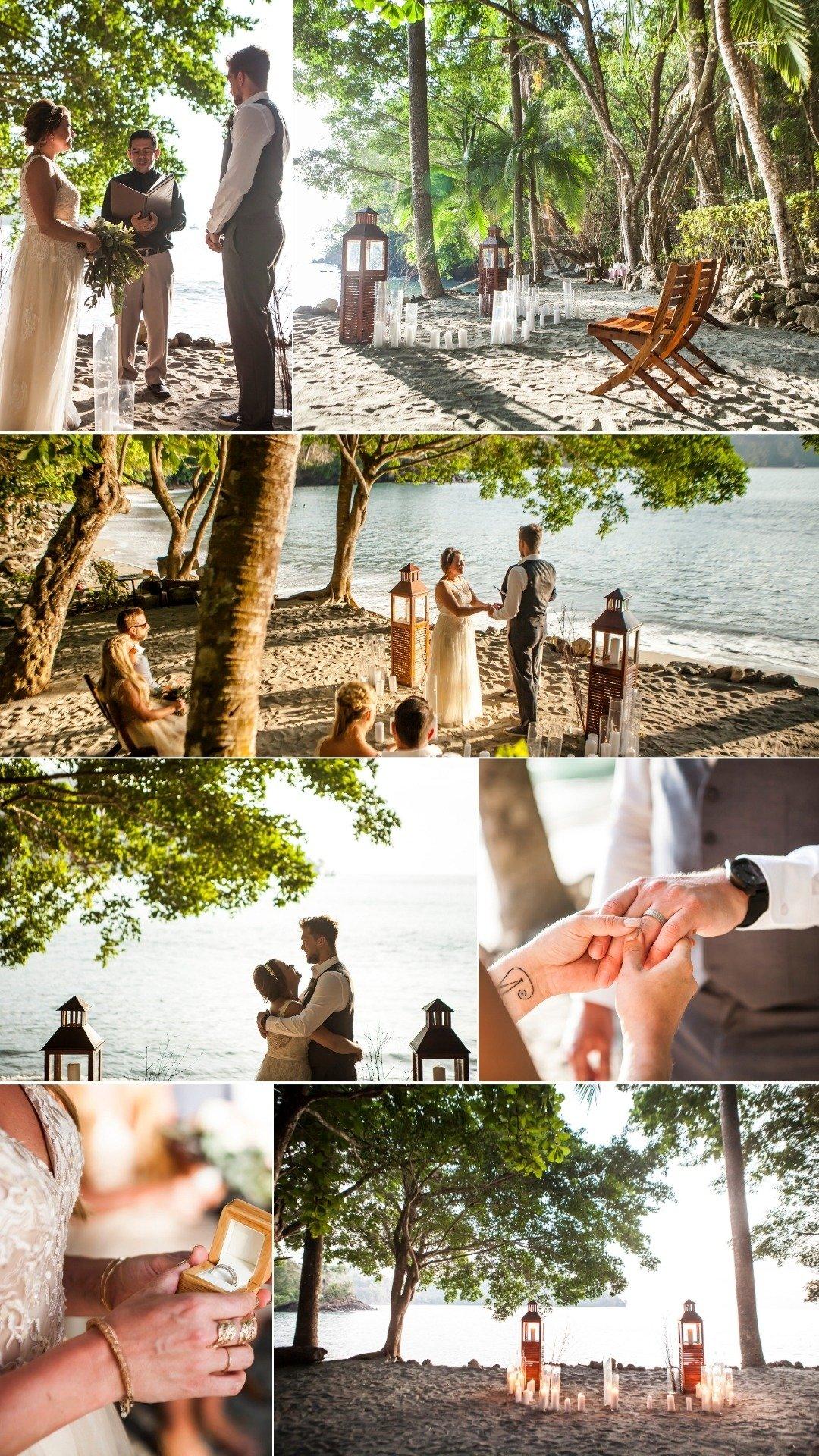 beachfront micro wedding