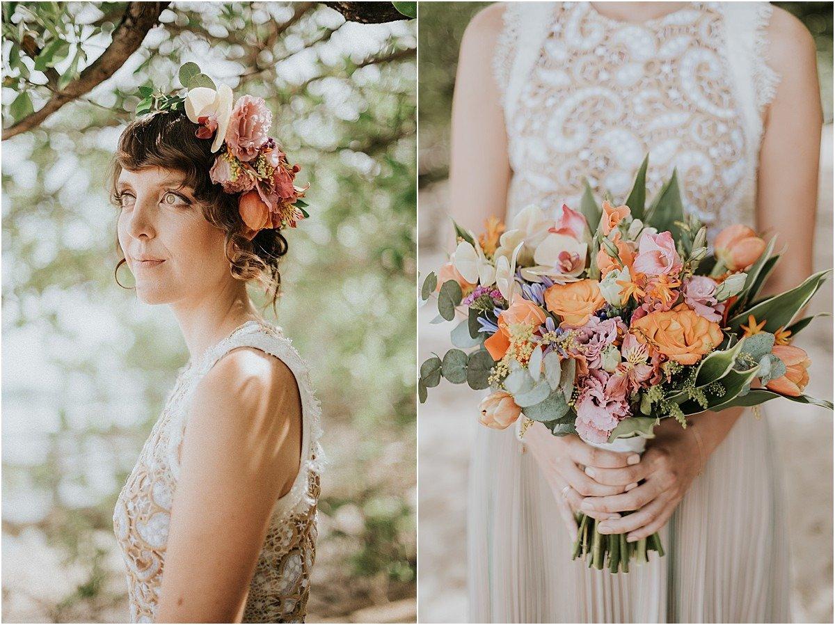 bridal bouquet for destination elopement