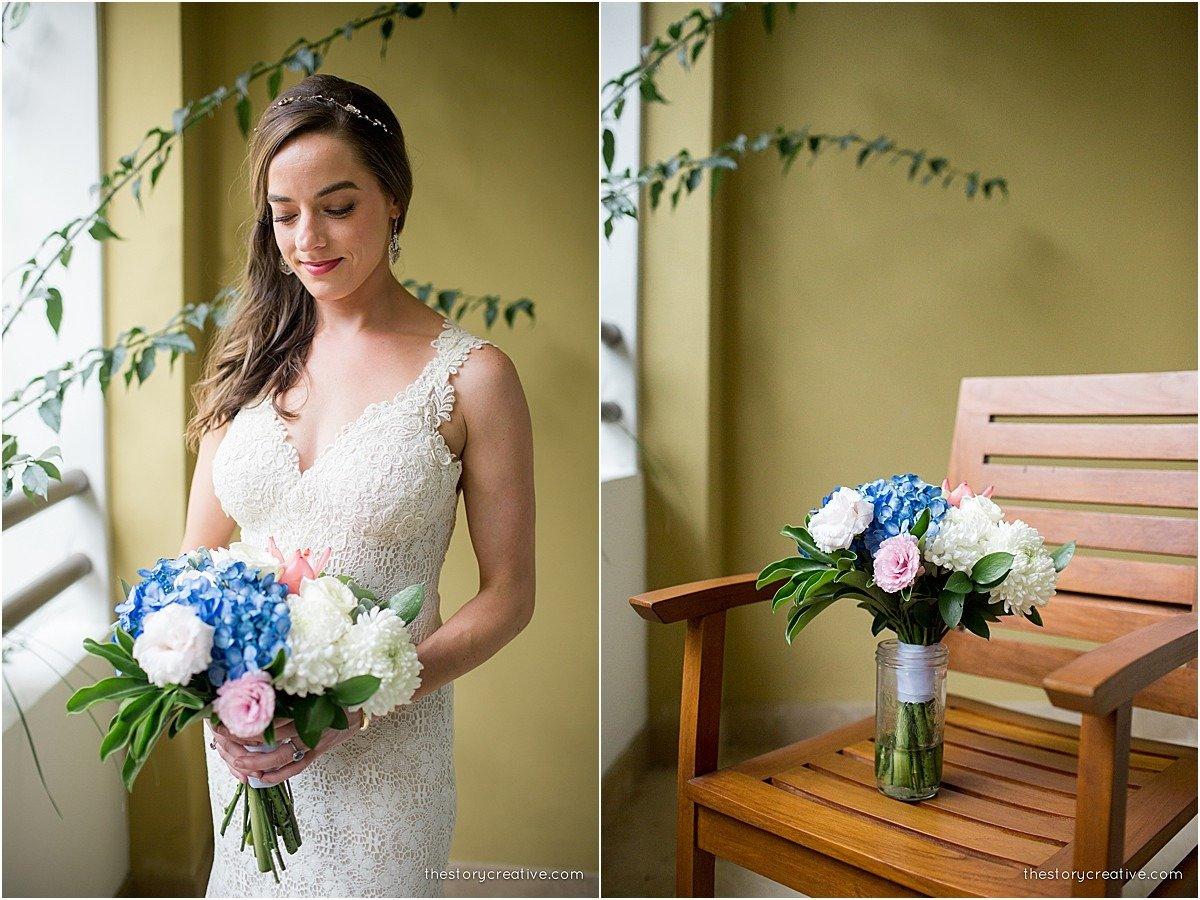 bride blue florals seat
