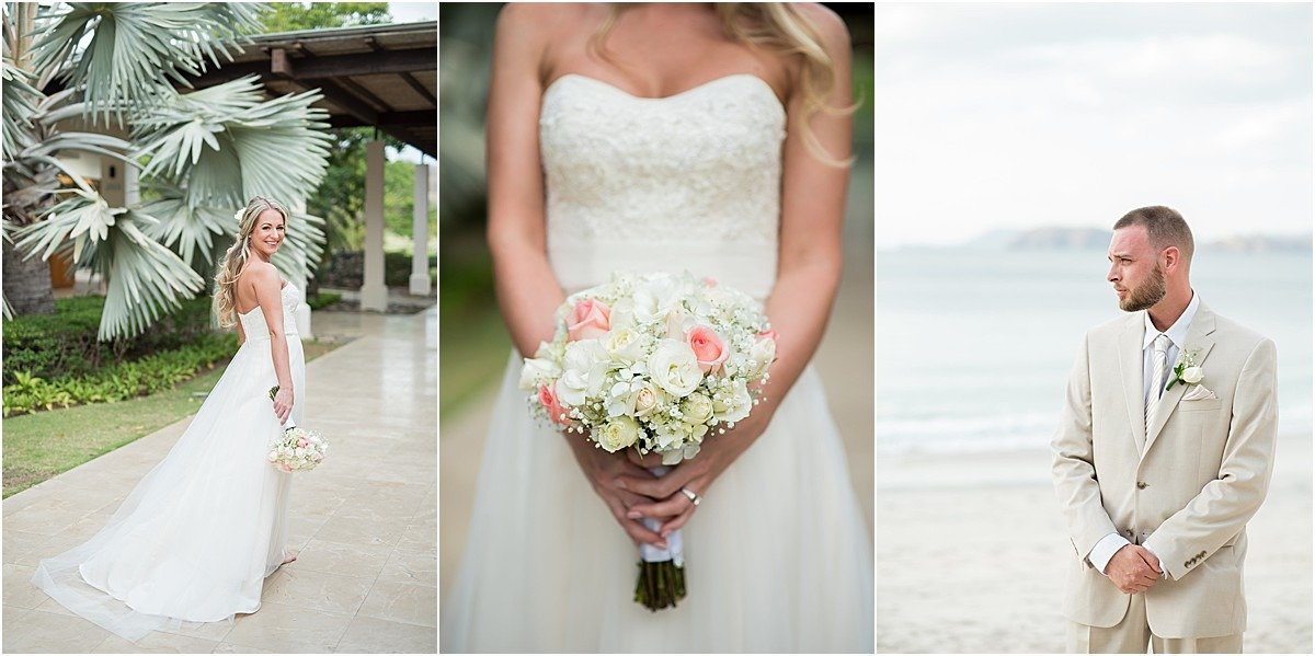 brides flowers westin conchal elope