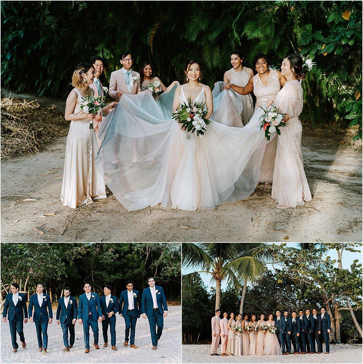 bridesmaids girls groomsmen
