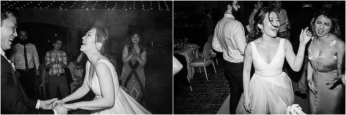 dance the night away in black and white