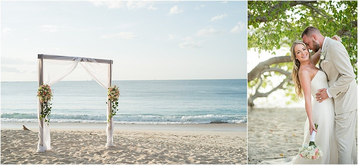 elopement decor in CR arch