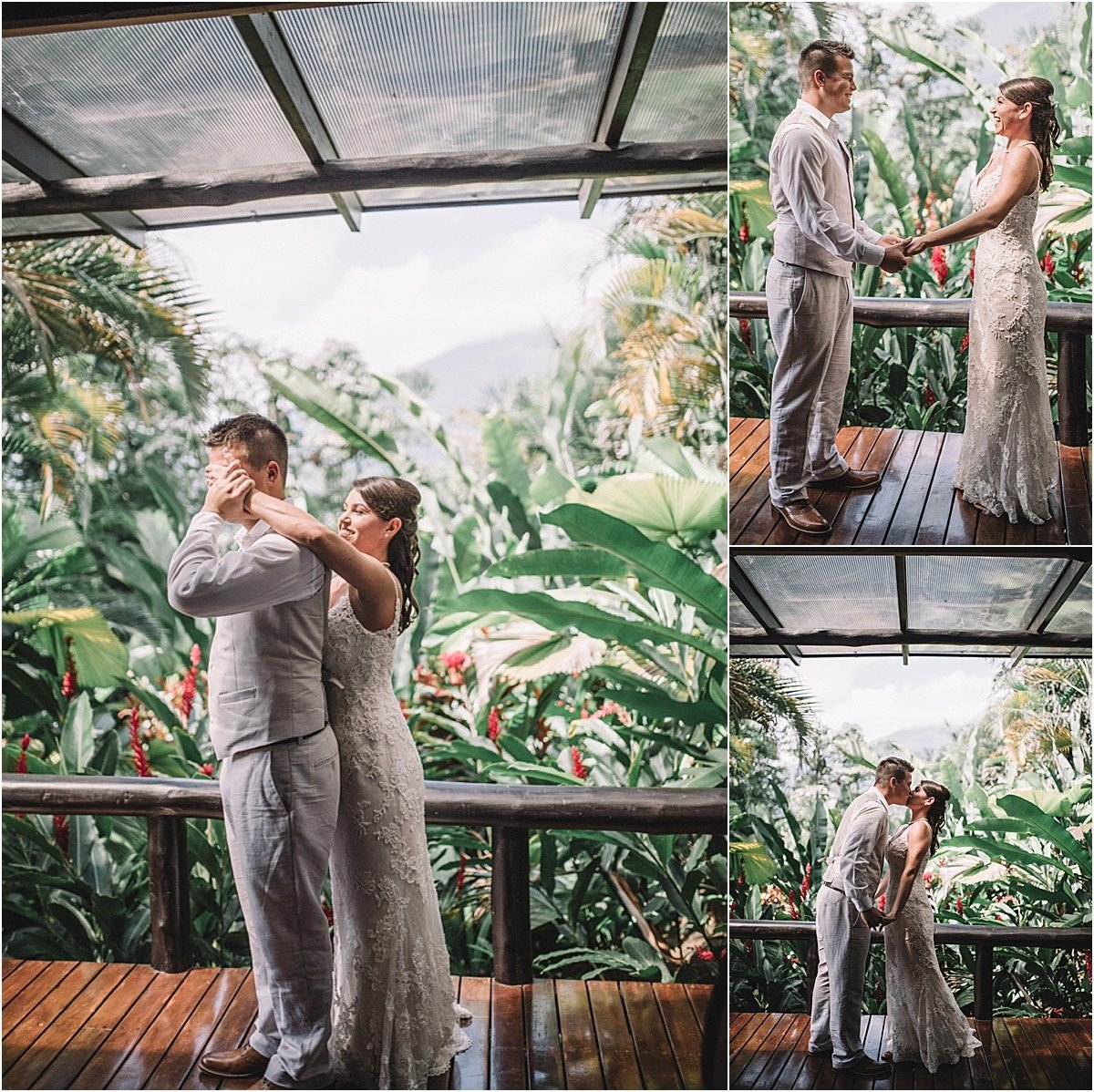first looks at this rain forest elopement