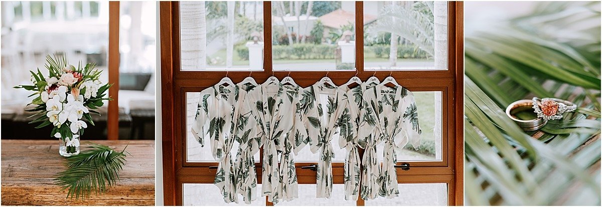 morning attire palm robes rings