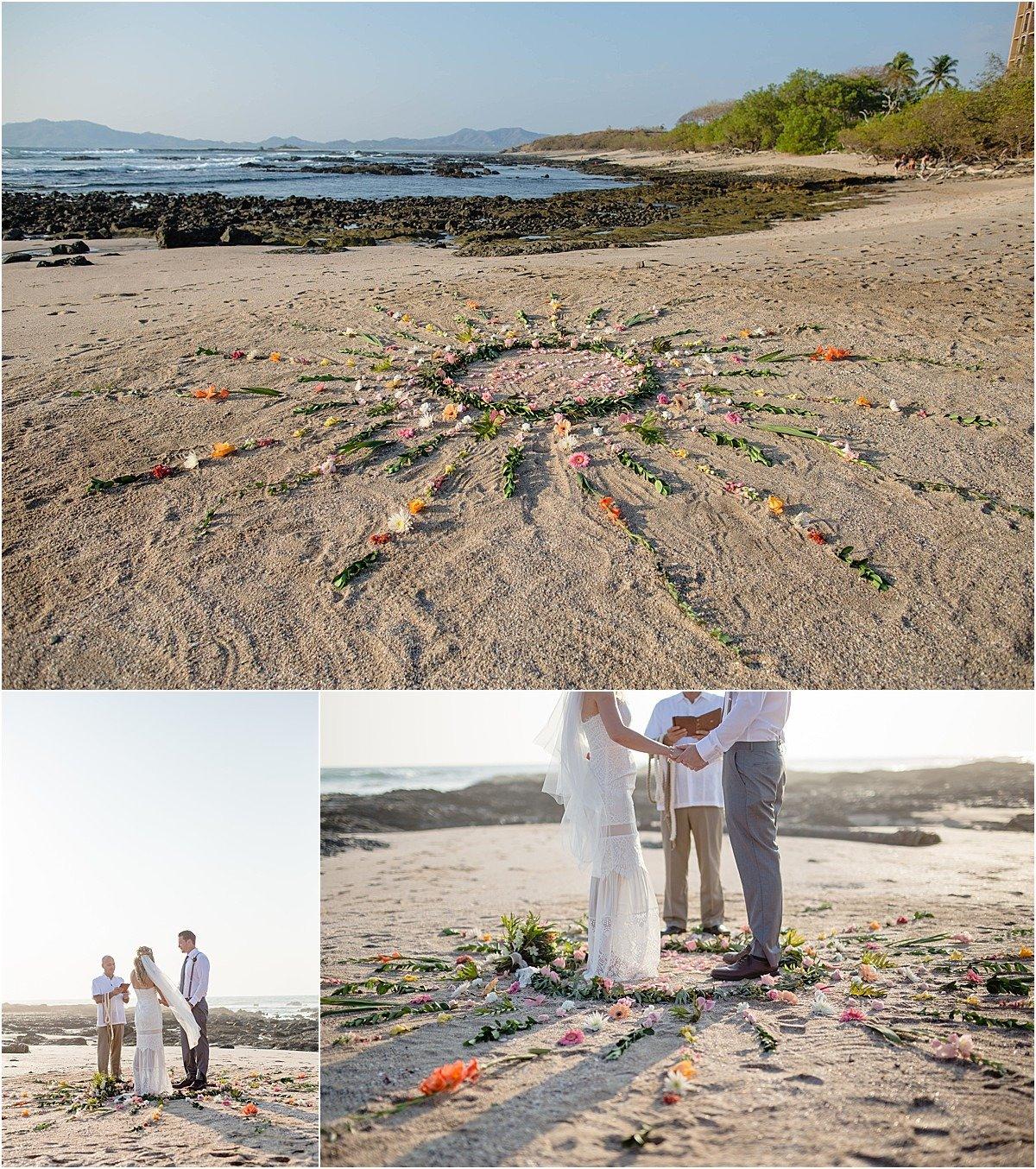 playa langosta mandala ceremony decor