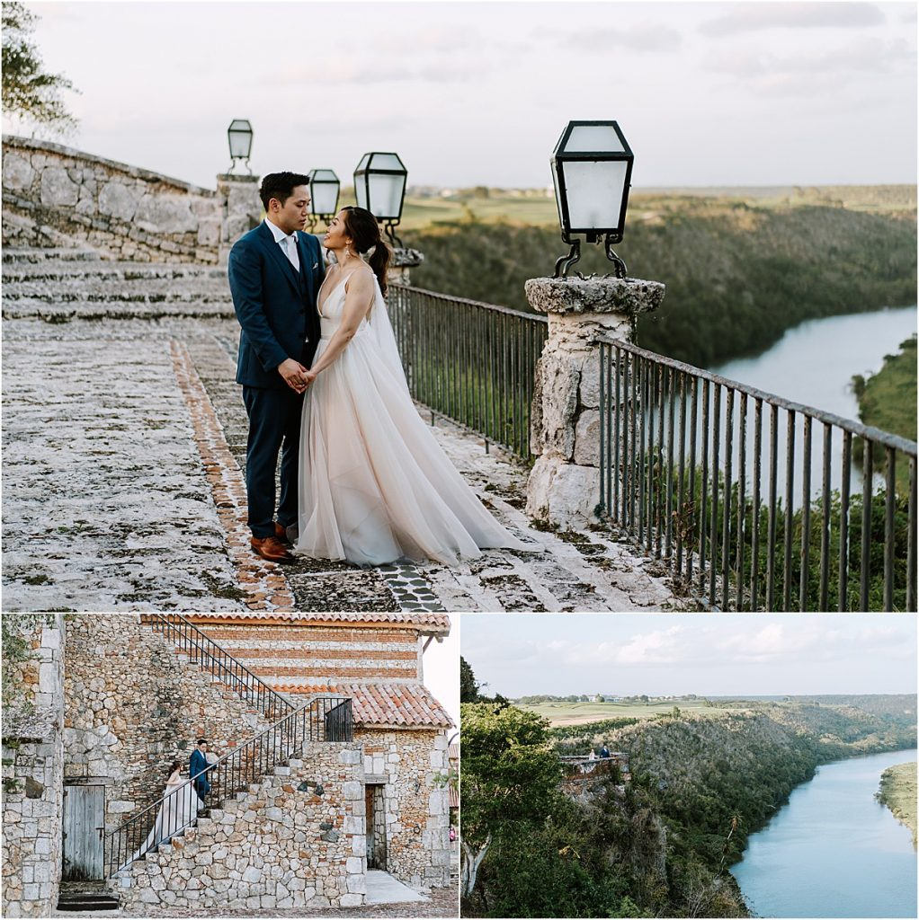 couple photoshoot over the river in Dominican Republic