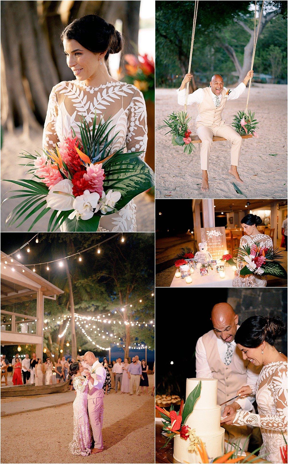 romance on the beach playa pangas wedding