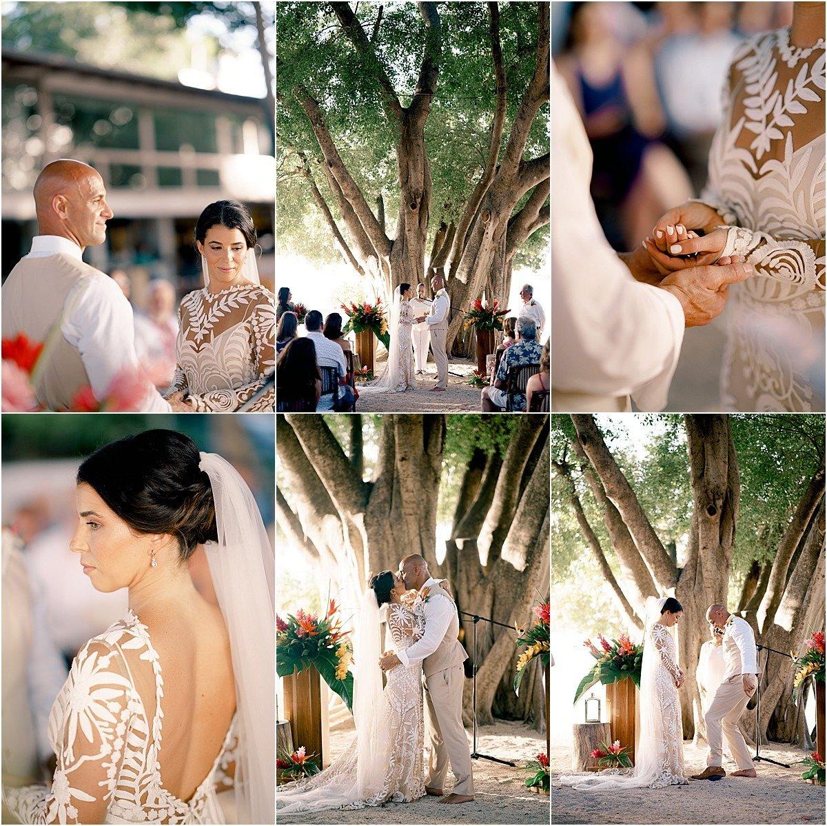 romantic ceremony in the sand