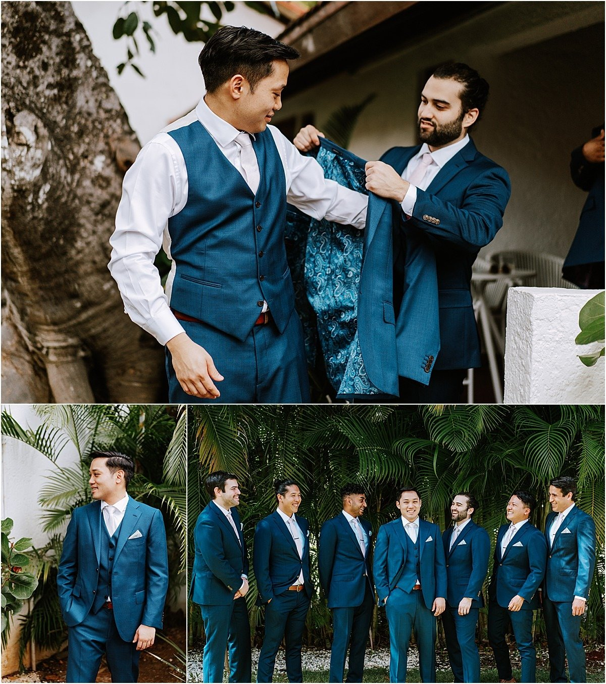 suit and tie blue custom suits