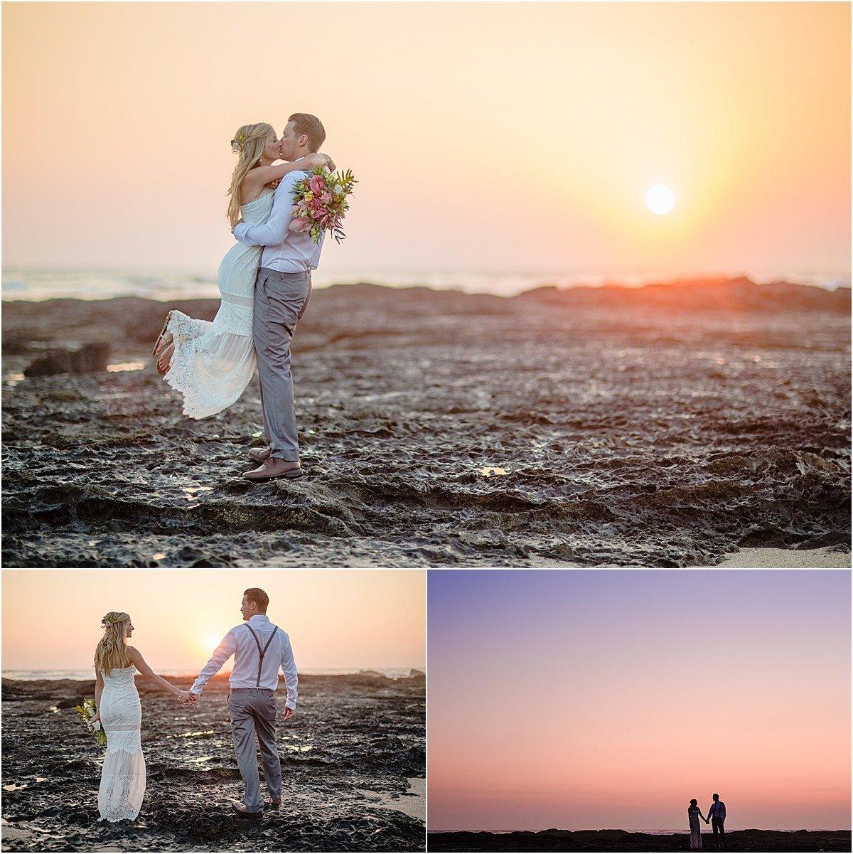 summer sunset in costa rica langosta