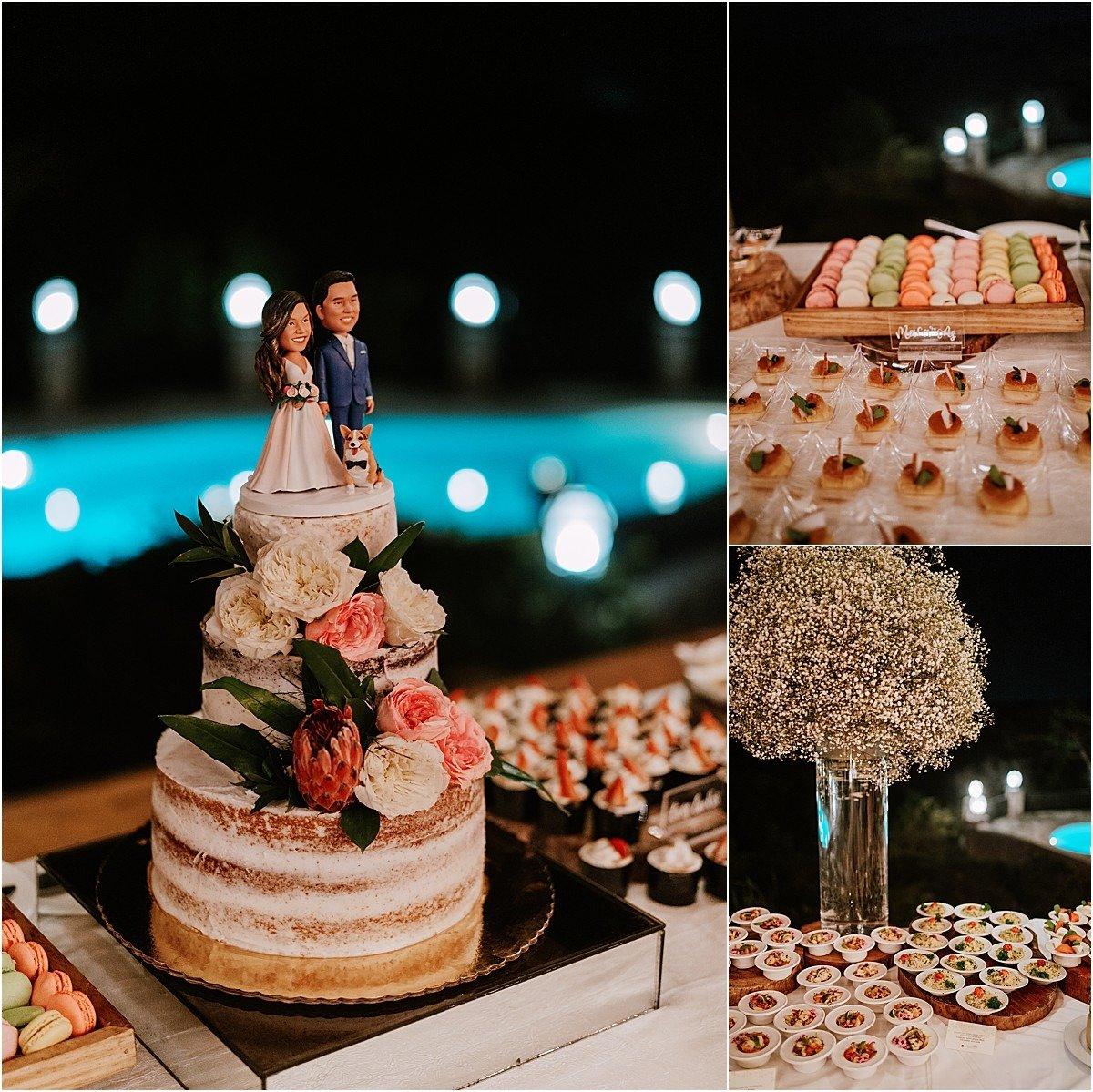 wedding cake three tier guava top