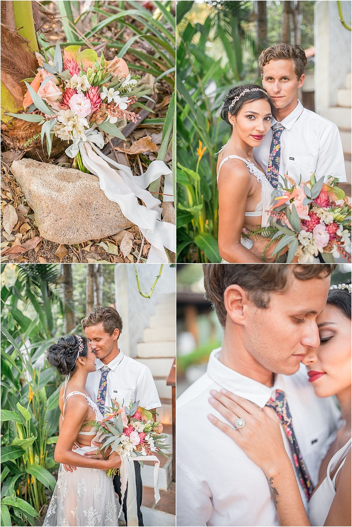 Flores de Camposwhipped up the most gorgeous tropical florals for the occasion