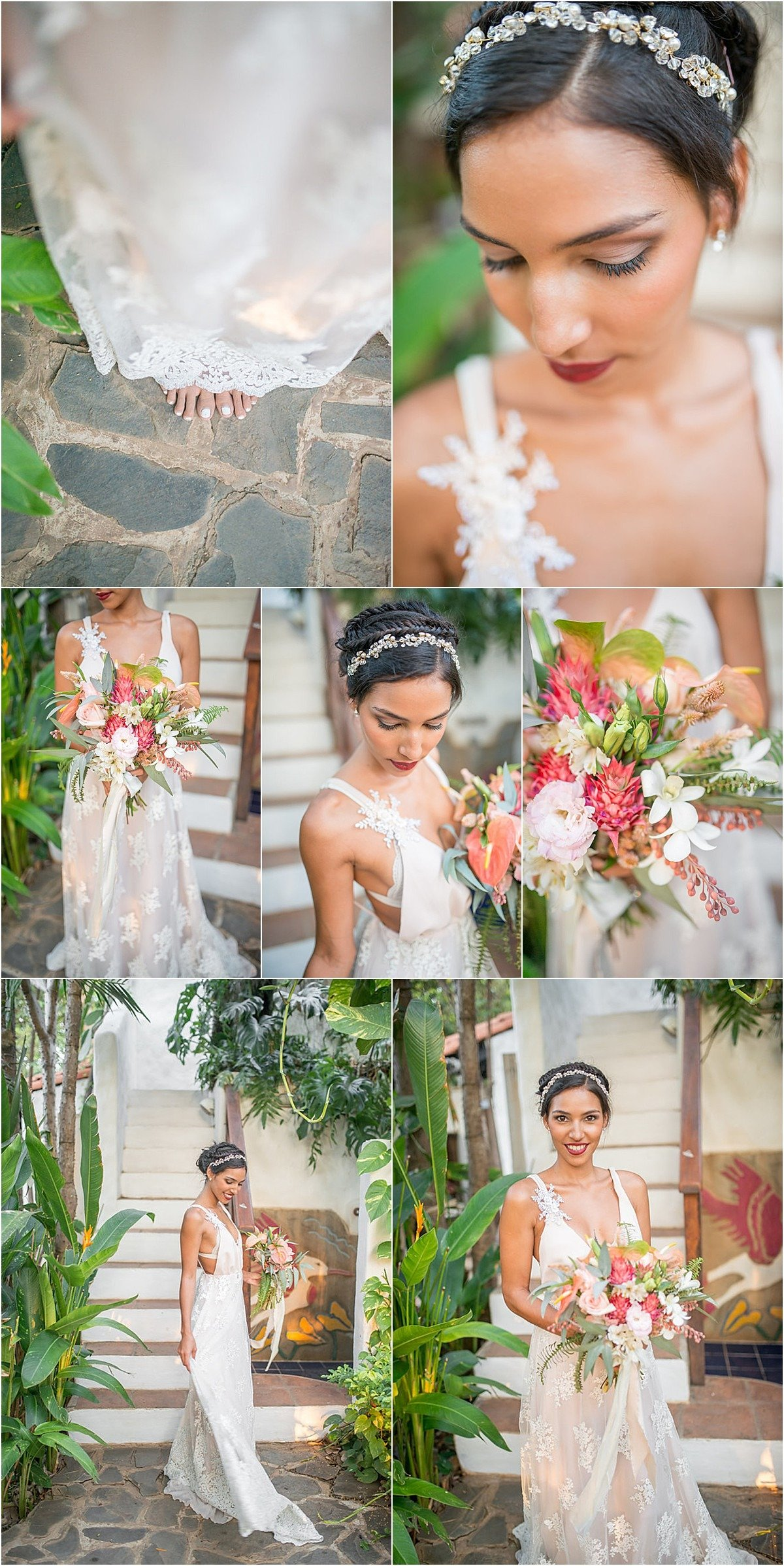 The florals were all native to Costa Rica and looked incredible juxtaposed against the green palm leaves everywhere.