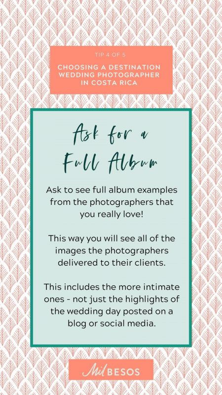 ask for a full wedding album