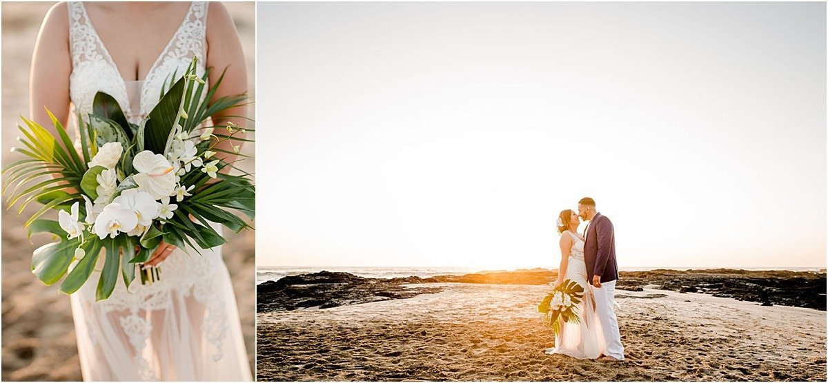 bridal bouquet on the beach of CR
