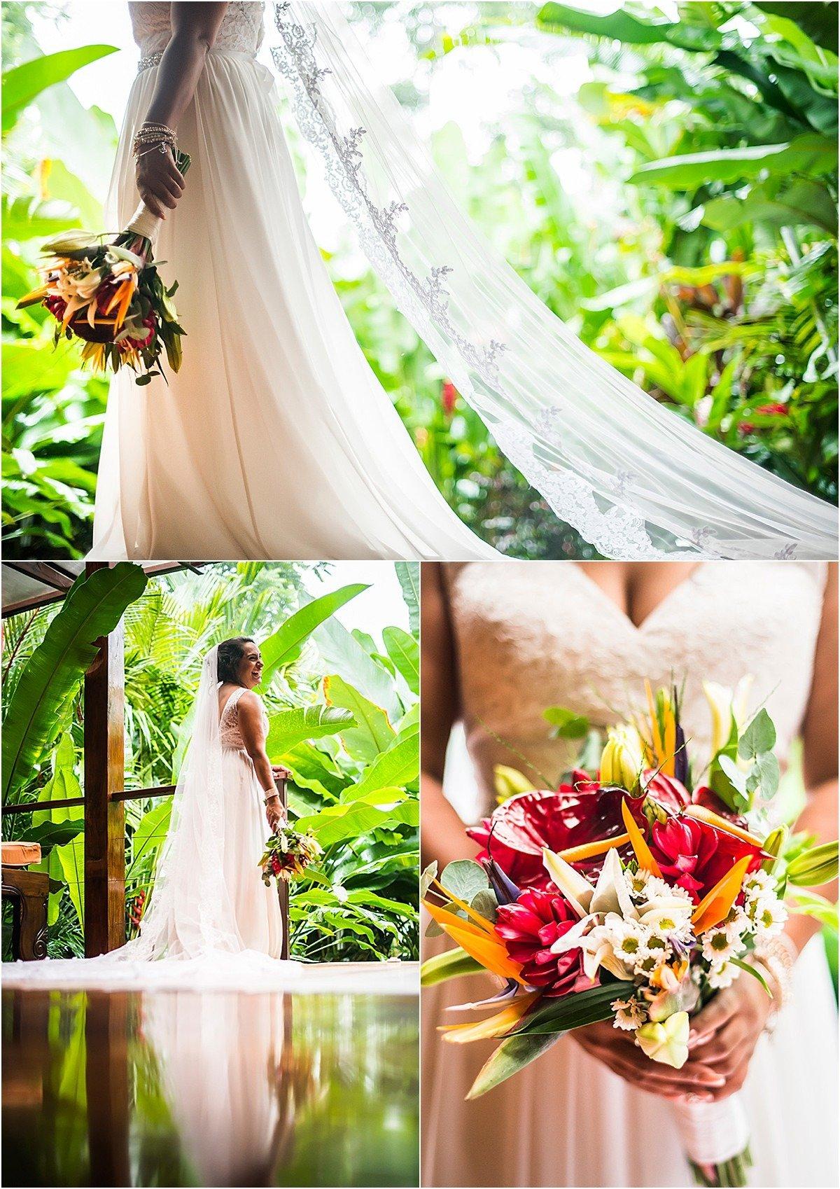 bridal train and florals