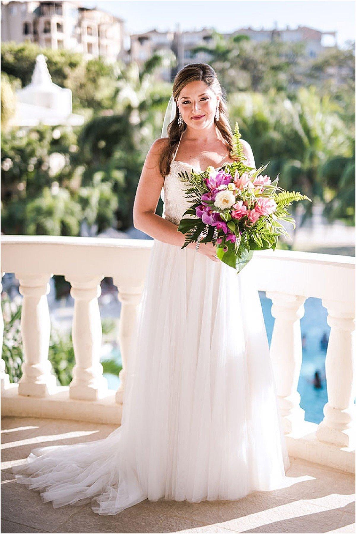 bride on the balcony costa rica