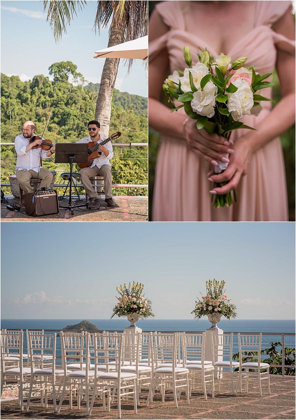 bridesmiads dress and ceremony in verde costa rica