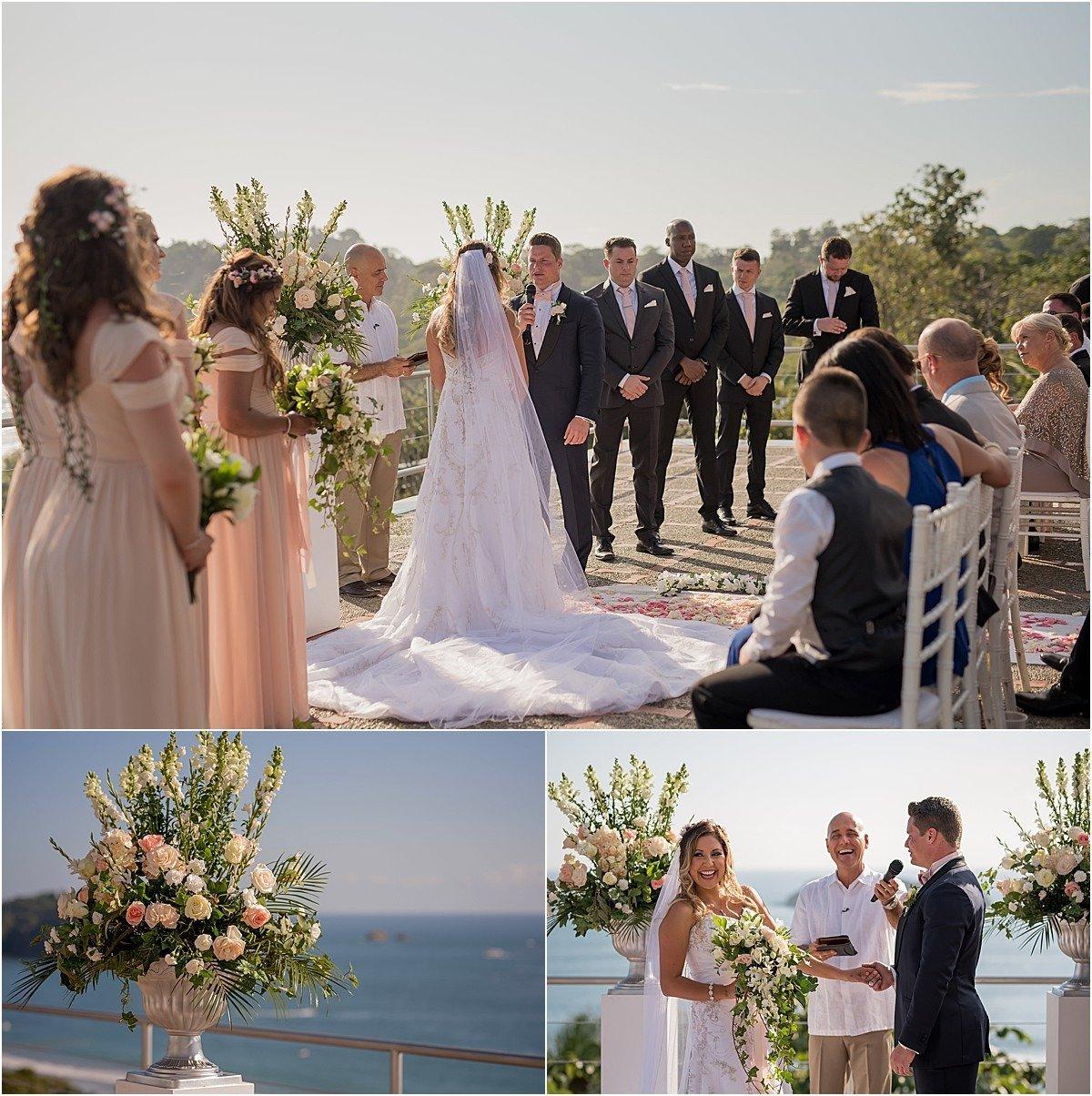 ceremony overlooking the pacific ocean in costa rica