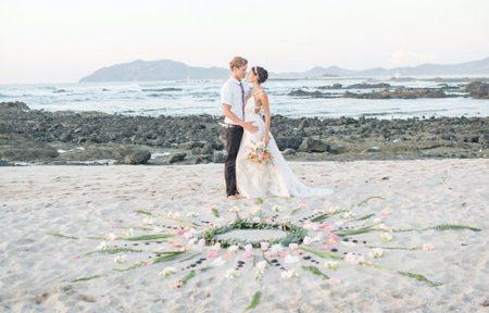 costa rica beach elopement