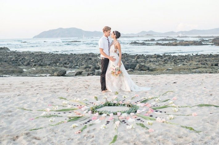 costa rica beach elopement