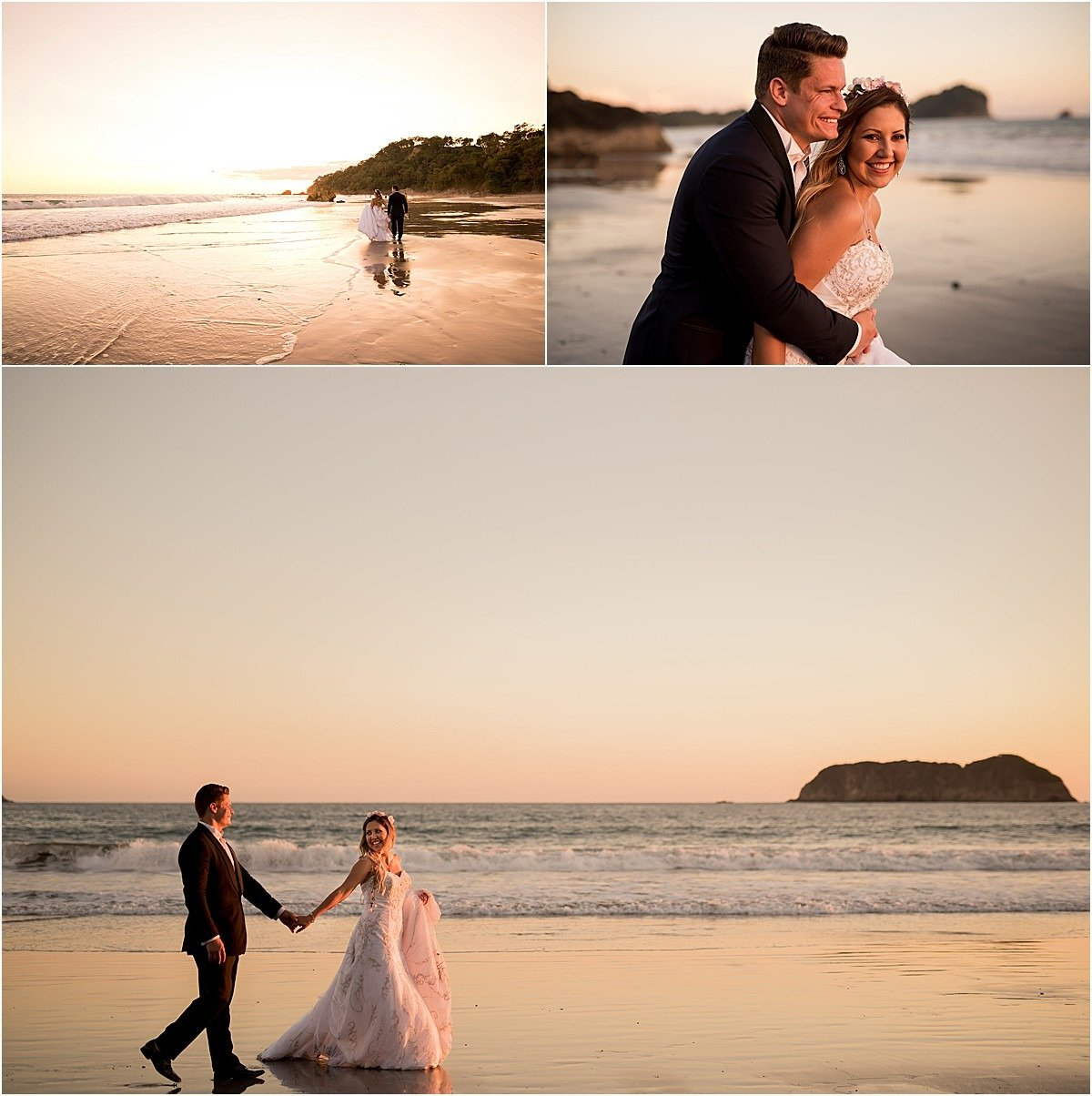 couple session on the shore of Costa Rica