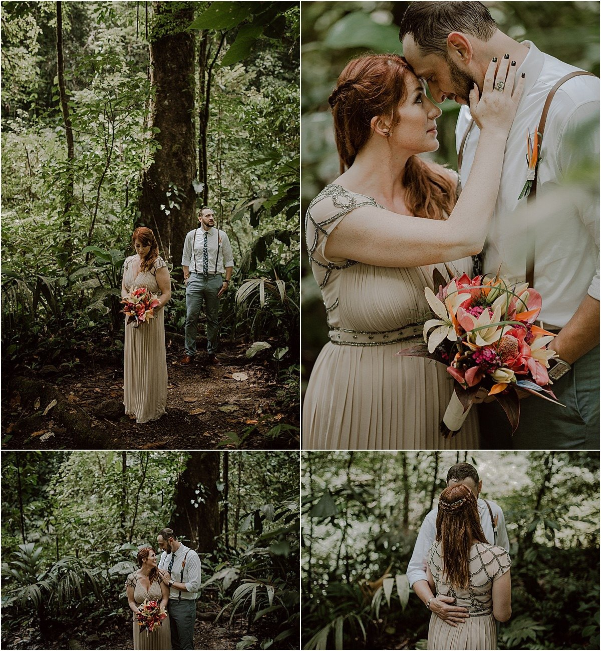 couples portraits in the cloud forest