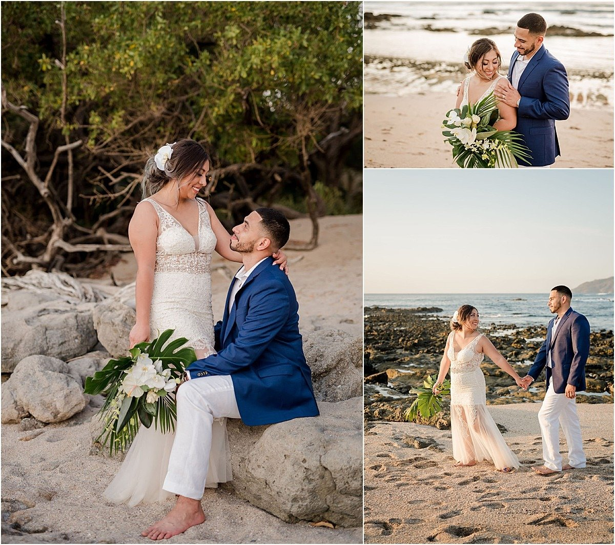 couples session on playa by casa luz