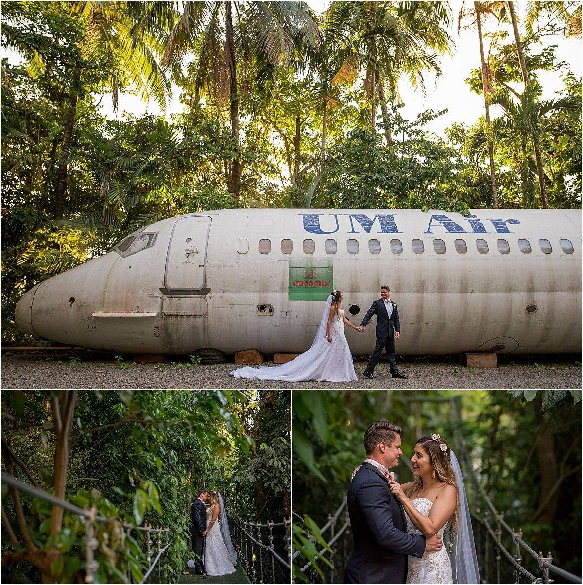 crashed airplane in jungle of Costa Rica