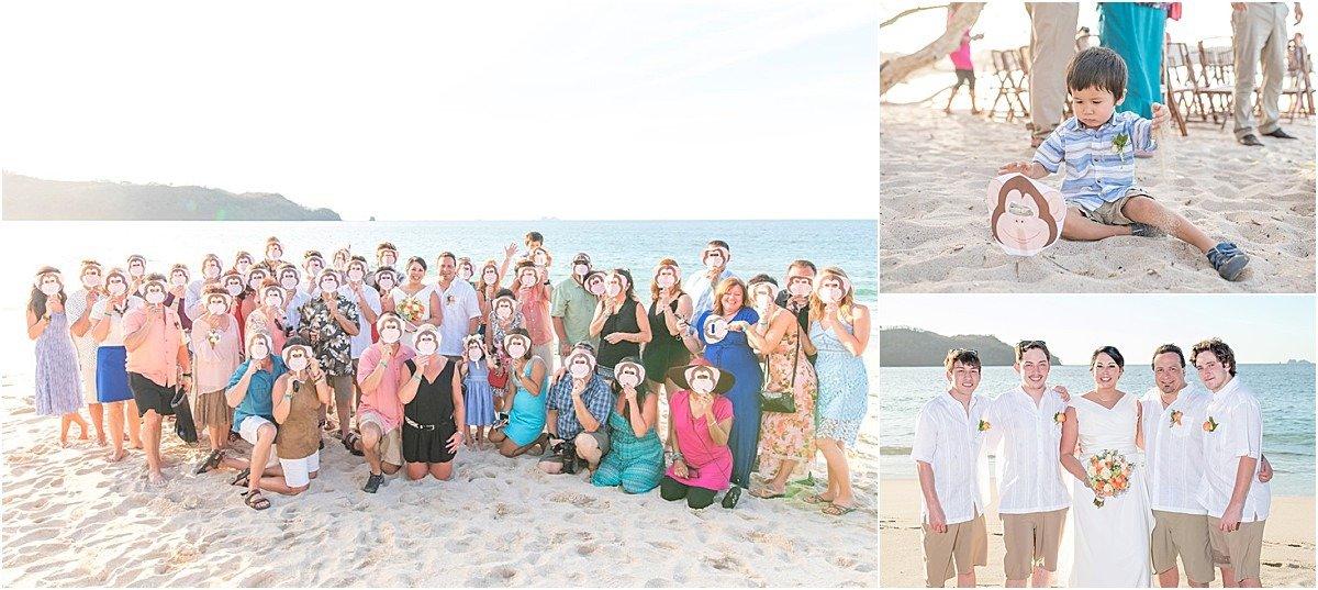 guests photos beach wedding conchal