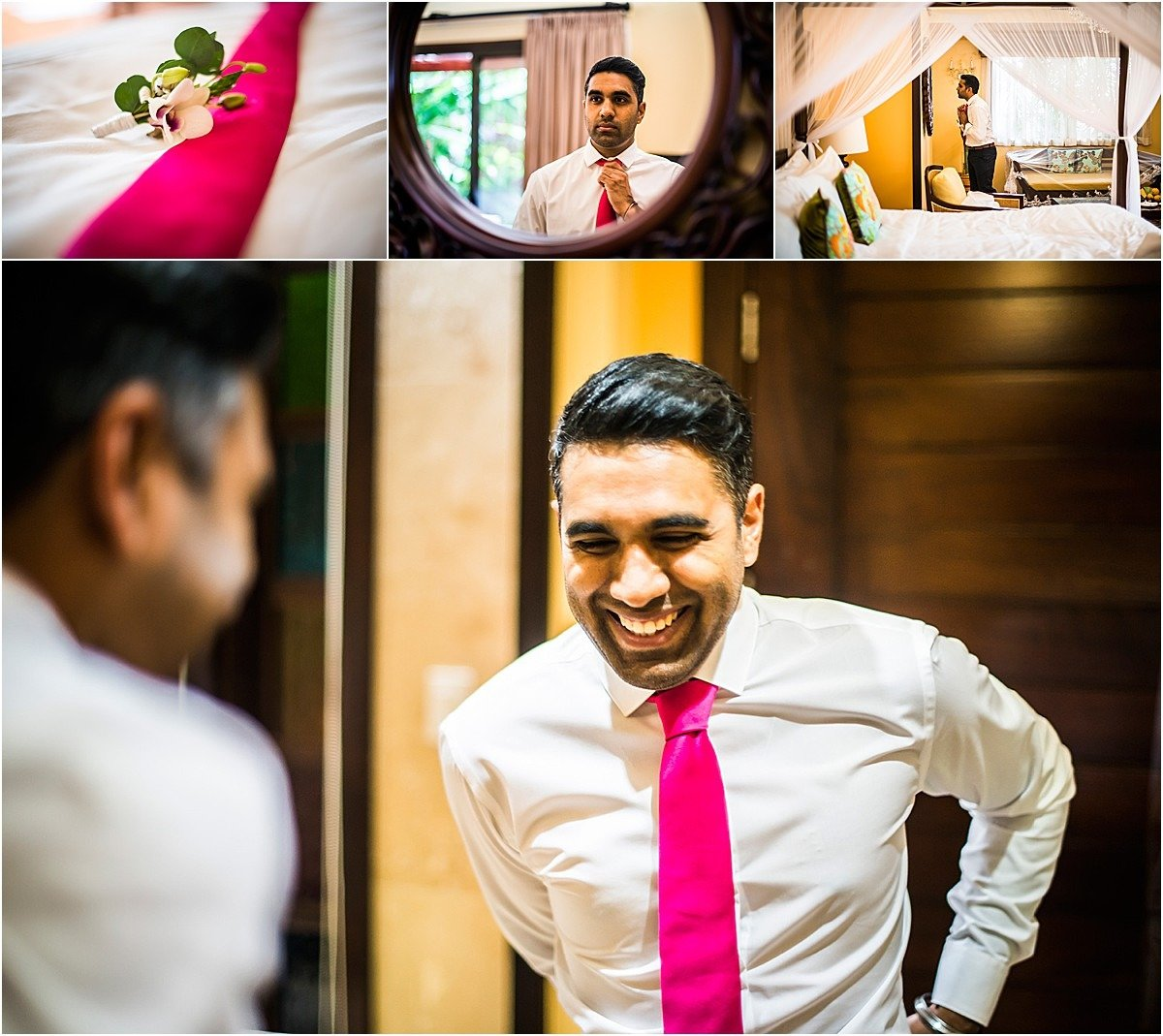 indian groom getting ready for the elopement