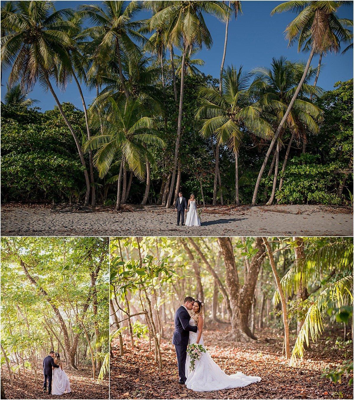 jungle and ocean wedding