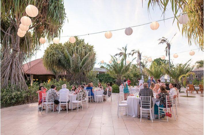 reception beach club all inclusive wedding in conchal