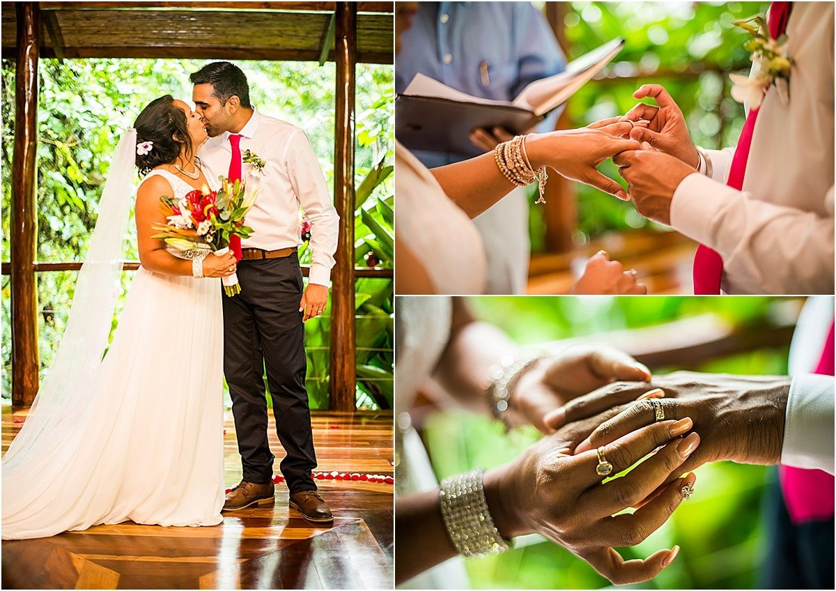 rings on fingers for elopement ceremony