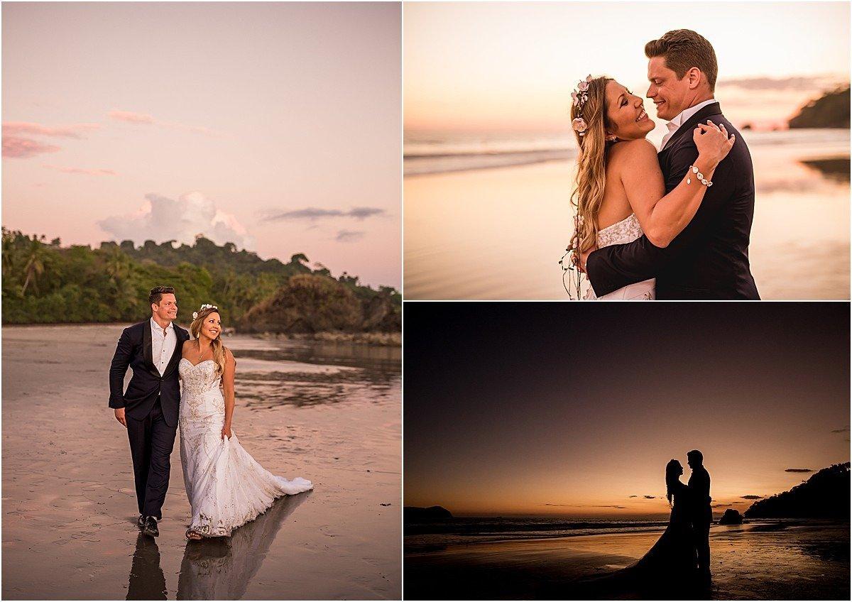 sunset beach wedding costa rica event planners